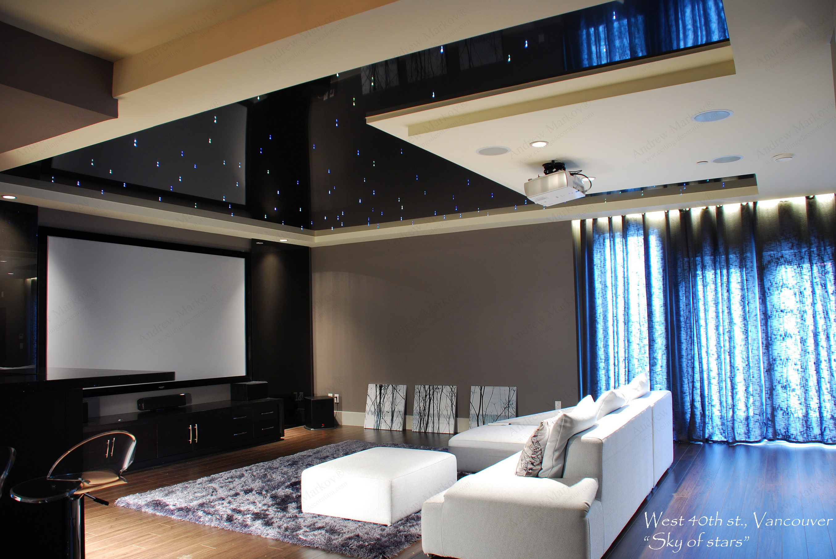Ceilings Decoration In Design Glossy Stretch Ceilings